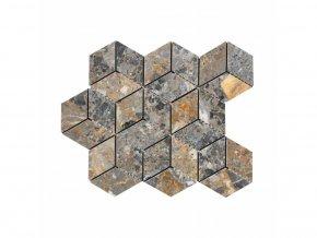 Kamenná mozaika z mramoru, Diamant multicolor, 30,7 x 27,8 x 0,9 cm, NH201
