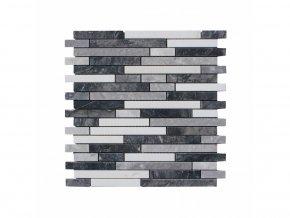 Kamenná mozaika z mramoru, Interlocking white and sky vein, 30,5 x 29,7 x 0,9 cm, NH211